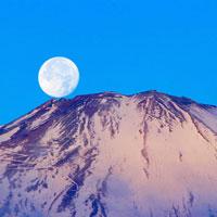御殿場市から見たパール富士